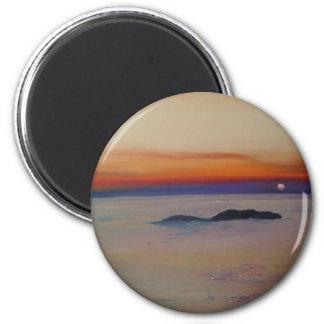 Strand mit Sonnenuntergang Magnet