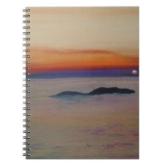 Strand mit Sonnenuntergang Notebook
