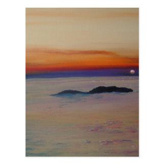 Strand mit Sonnenuntergang Postcard