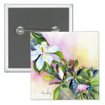 Strand of Flowers Pinback Buttons