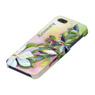 Strand of White Flowers with Blue and Green iPhone SE/5/5s Cover