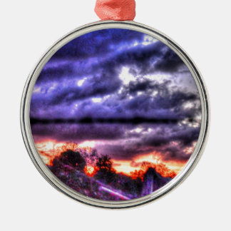 STRAND OF WIRE SUNSET & STORM CLOUDS AUSTRALIA METAL ORNAMENT