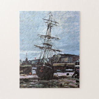 Stranded Boat in Fecamp Monet Fine Art Puzzle