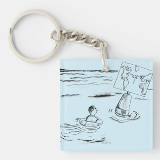 Stranded Double-Sided Square Acrylic Keychain