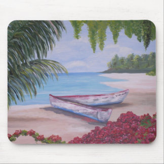 Stranded on a Tropical Island Mouse Pad