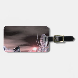 stranded on the edge of time luggage tag
