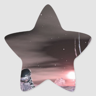 stranded on the edge of time star sticker