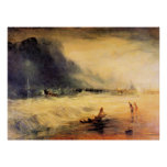 Stranded ship by Joseph Mallord Turner Posters