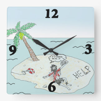 Stranded Square Wall Clock