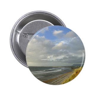 Strandhill Ireland Ocean Beaches Couds Sky Pinback Buttons
