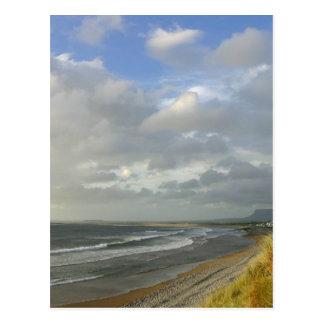 Strandhill Ireland Ocean Beaches Couds Sky Post Cards