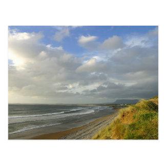 Strandhill Ireland Ocean Beaches Couds Sky Post Card