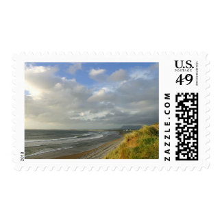 Strandhill Ireland Ocean Beaches Couds Sky Stamps