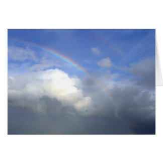Strandhill Ireland Rainbows Couds Sky Card
