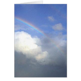 Strandhill Ireland Rainbows Couds Sky Greeting Cards