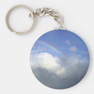 Strandhill Ireland Rainbows Couds Sky Keychain