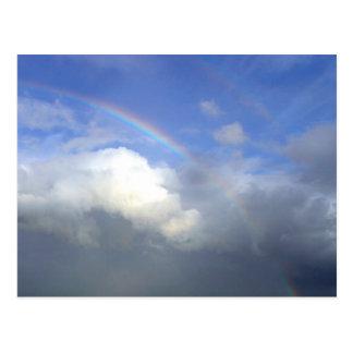 Strandhill Ireland Rainbows Couds Sky Post Card