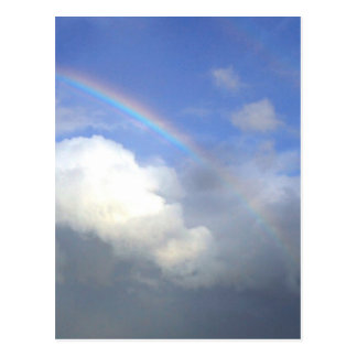 Strandhill Ireland Rainbows Couds Sky Postcard