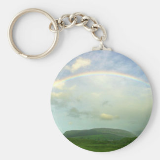 Strandhill Rainbows Clouds Over Knoicknara Keychain