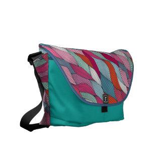 Strands aqua Rickshaw Messenger Bag