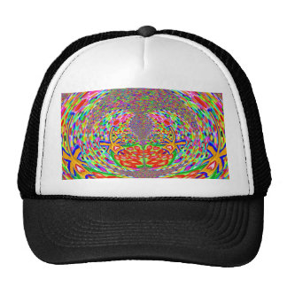 Strands,Diamond, Hand n Foort Print,Clock,Time FUN Mesh Hat