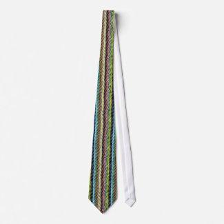 Strands of Colored Wool Effect Necktie tie