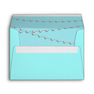 Strands of Pearls on Turquoise Envelope