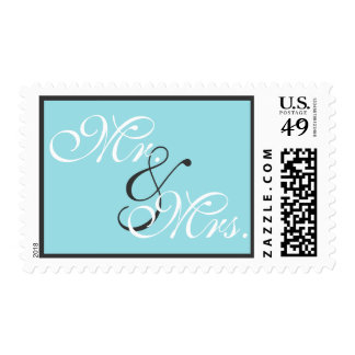 Strands of Pearls on Turquoise Stamp