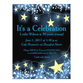 Strands of Stars 50th Birthday Invitation