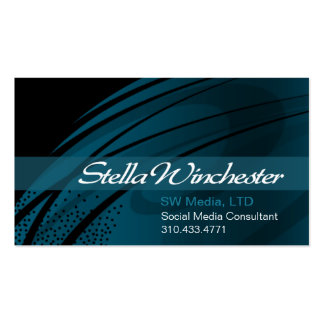 Strands Trendy Stylish Business Card template