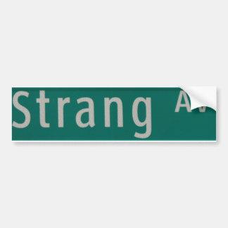 Strang Ave street sign Bumper Sticker