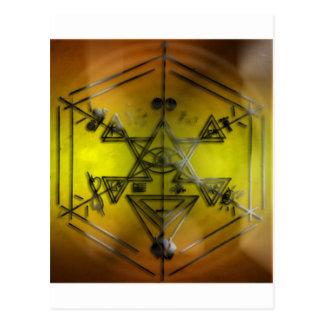 strang symbols yellow postcard