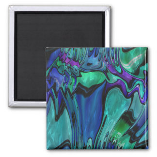 strange abstract 11 2 inch square magnet