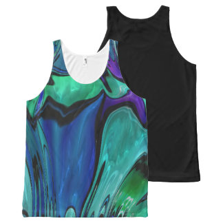 strange abstract 11 All-Over print tank top