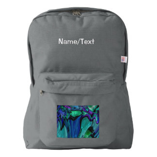 strange abstract 11 american apparel™ backpack