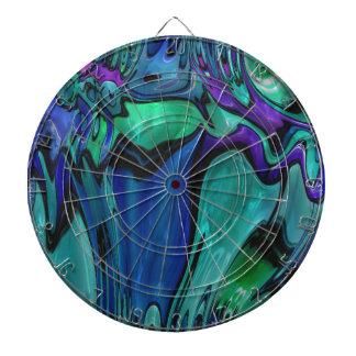 strange abstract 11 dartboard
