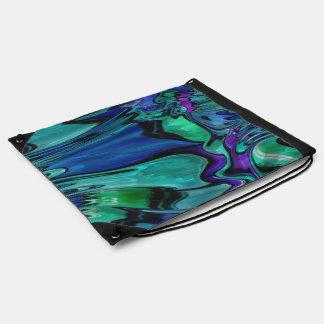 strange abstract 11 drawstring bag