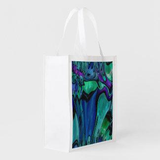strange abstract 11 grocery bag