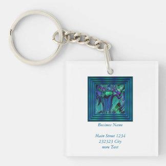 strange abstract 11 keychain