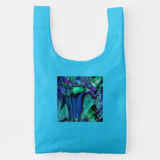 strange abstract 11 reusable bag