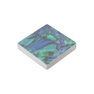 strange abstract 11 stone magnet