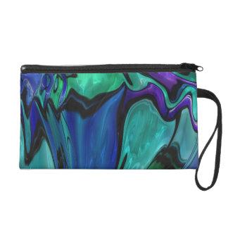 strange abstract 11 wristlet purse