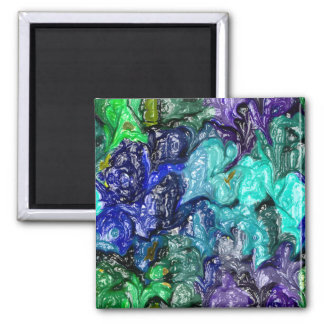 strange abstract 1 2 inch square magnet