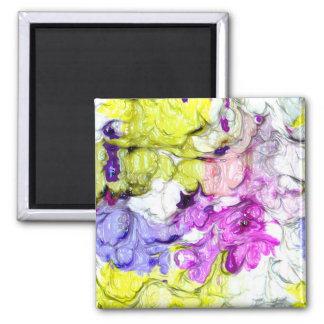 strange abstract 2 soft 2 inch square magnet