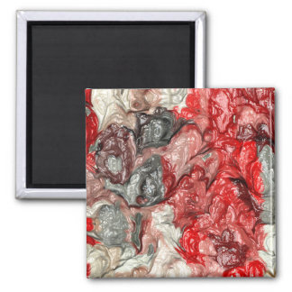 strange abstract 3 2 inch square magnet