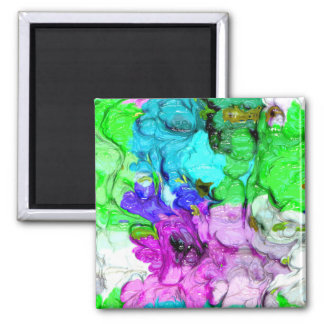 strange abstract 4 2 inch square magnet