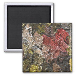 strange abstract 5 2 inch square magnet