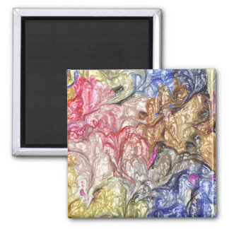 strange abstract 6 2 inch square magnet