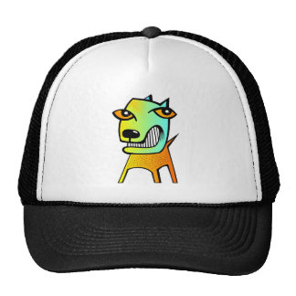 strange abstract cubism funny dog pet animal trucker hat