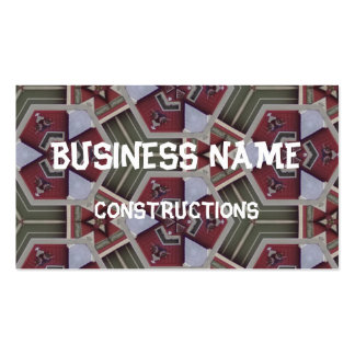 Strange abstract pattern business card